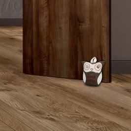 Düğme Gözlü Baykuş Tasarımlı Kapı Stoperi