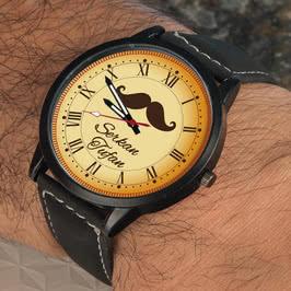 Erkeğe Hediye Bıyık Tasarımlı Kol Saati