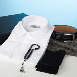 Erkeğe Tesbih Hediyeli Gömlek Kemer Seti