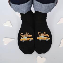 Erkek Çocuklarına Özel 6 lı Araba Baskılı Çorap