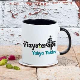 Fizyoterapistlere Özel İsim Yazılı Renkli Kahve Kupası