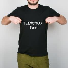 Gizli I Love You Baskılı Tişört