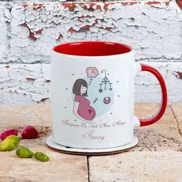 Hamilelere Özel İsim Yazılı Kahve Kupası
