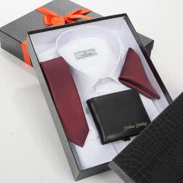 İsme Özel Cüzdan Hediyeli Kravat Gömlek Seti