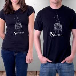 İstanbul Galata Kulesi Tasarımlı Özel Baskılı Tişört