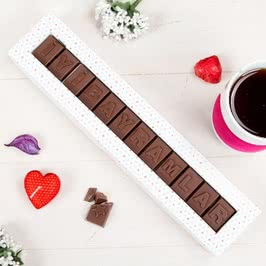 İyi Bayramlar Mesajlı Çikolata