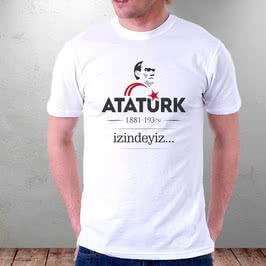 İzindeyiz Atatürk Baskılı Tişört