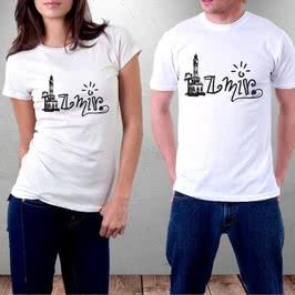 İzmir Saat Kulesi Tasarımlı Baskılı Tişört