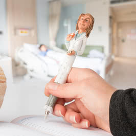 Kadın Doktor Tasarımlı Biblo Tükenmez Kalem