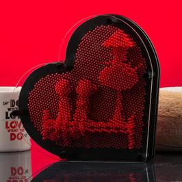 Kalp Şeklinde Pinart Çivi Sanatı