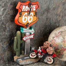 Motorcu Figürlü Eğlenceli Masa Saati