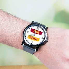 Sarı Kırmızı Fanatiklere Hediye Baskılı Kol Saati