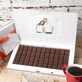 Seni Çok Seviyorum Mesajlı Kişiye Özel Harf Çikolata