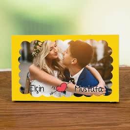 Sevgiliye Romantik Hediye Baskılı Fotoğraf Çerçevesi