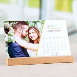 Sevgiliye Romantik Hediye Fotoğraflı Baskılı Masa Takvimi