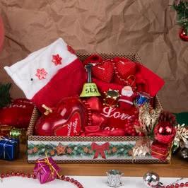 Sevgiliye Romantik Yılbaşı Sepeti