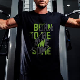 Sporculara Özel Mesajlı Tişört