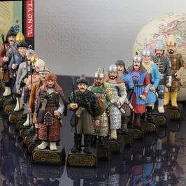 Tarihi Türk İmparatorlukları Askerleri 16 lı Biblo Seti