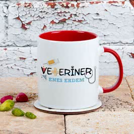 Veterinere Hediye Renkli Kahve Kupası