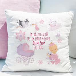 Yeni Doğan Hediyesi Kız Çocuğa Esprili Yastık