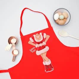 Yılbaşı Kostümü Tasarımlı 2li Mutfak Önlüğü
