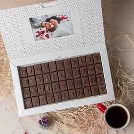 Yıldönümü Mesajlı Harf Çikolata