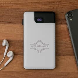 Zarif Tasarımlı Iphone Harici Şarj Cihazı 5000 mAh