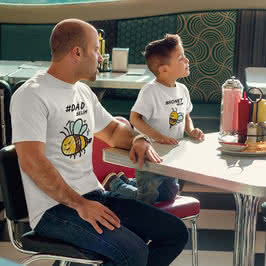 Arı Ailesi Tasarımlı 3 lü Aile Tişörtü
