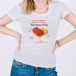 Attığını Vuran Annelere Terlik Tasarımlı Esprili Tişört