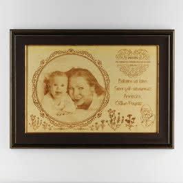 İlk Anneler Günü Hediyesi Çerçeveli Büyük Boy Ahşapfoto