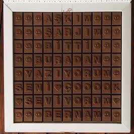 Sevgiliye Hediye Esprili Mesajlı Harf Çikolata