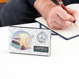 Edebiyat Öğretmenine Öğretmenler Günü Hediyesi Saatli Çerçeve