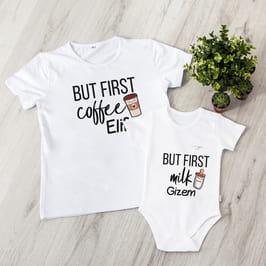 Yeni Annelere Hediye Tişört Çocuk Body Kombini